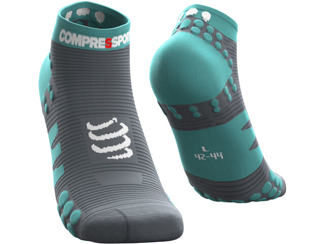 Compressport Pro Racing V3.0 Run Chaussettes Basses, nile blue